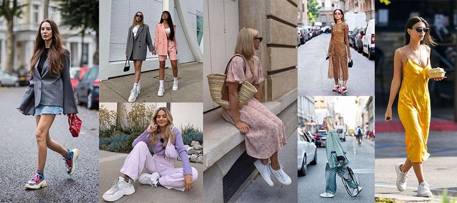 Идеи для смелых образов 2020: С чем носить кроссовки и кеды?